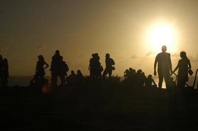 Pôr-do-sol e contraluz