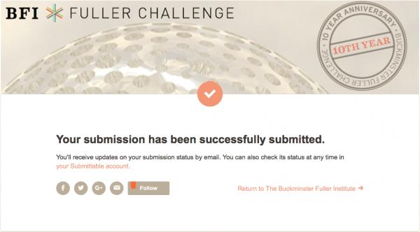 Tudoteca inscrita no Buckminster Fuller Institute Challenge
