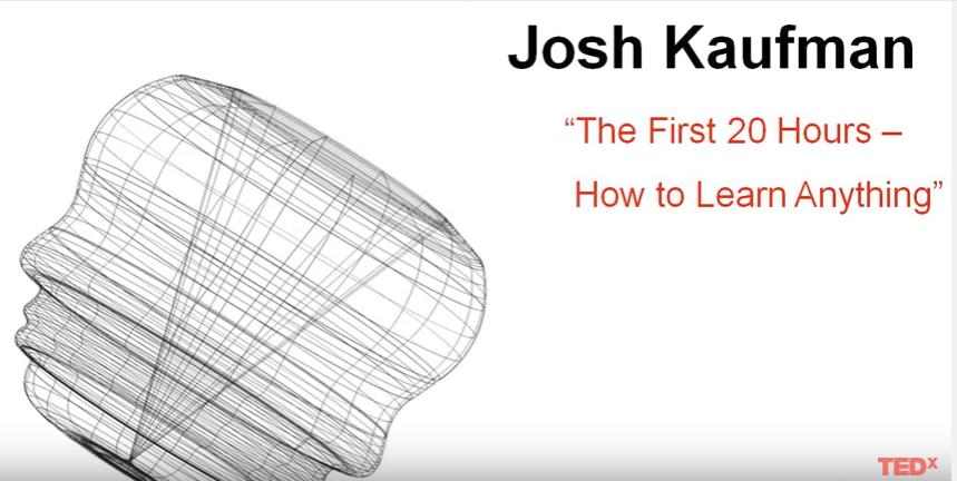 Josh Kaufman ensina como aprender qualquer coisa em 20 horas